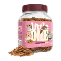 Little One Mealworms. Snack for omnivores small mammals, 70 g