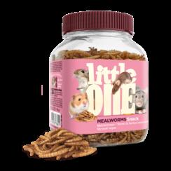 Little One Mehlwürmer, Snack für omnivore Säugetiere, 70 g