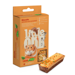 Little One Biscuits for small mammals with carrot and spinach, 5x7 g