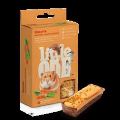 Little One Koekjes met gedroogde wortel en spinazie voor kleine dieren, 5x7 g