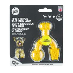 Tasty Bone Trio Bone Chicken Toy