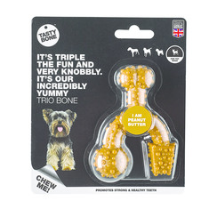 Tasty Bone Trio Bone Peanut Butter Toy