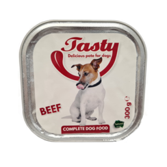 TASTY tubs dog Beef Pate 300 grams