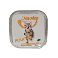 TASTY tubs cat Poultry Pate 100 grams