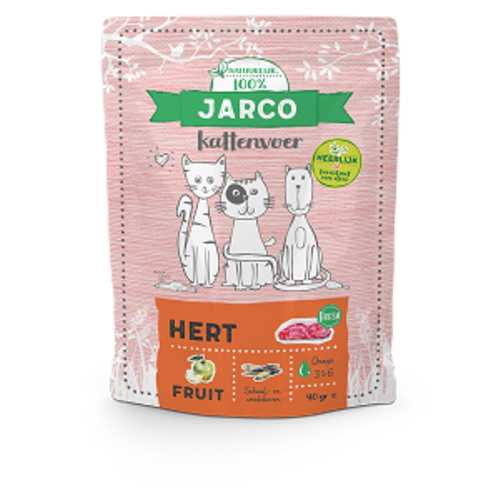 Jarco Jarco premium cat vers vlees hert 400 gr