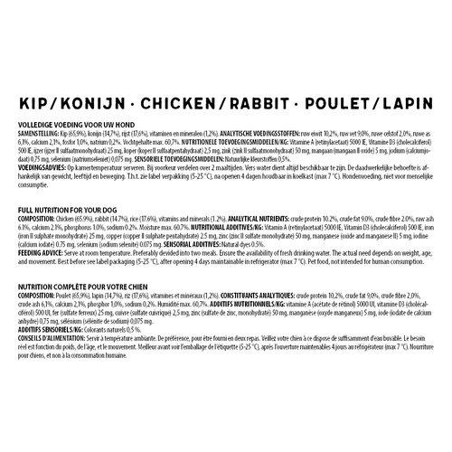 Jarco Jarco dog sausage medium 11-25kg chicken/rabbit 450 gr