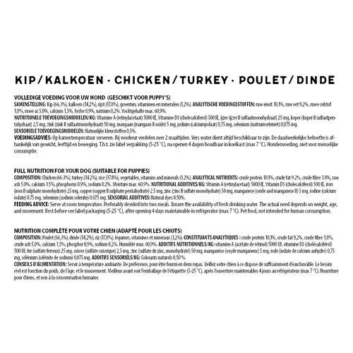 Jarco Jarco dog sausage giant chicken/turkey 750 gr