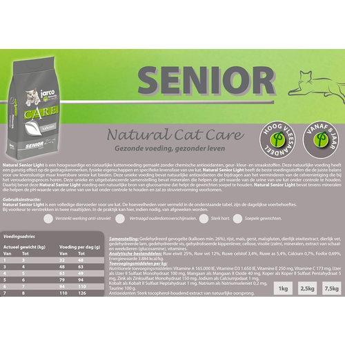Jarco Jarco Cat Natural Senior Light Lam 6 kg