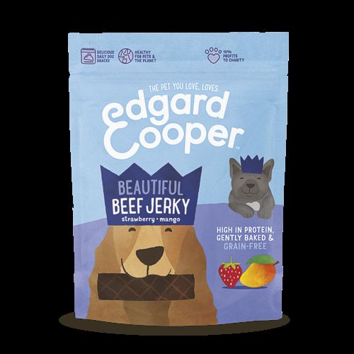 EDGARD EN COOPER Edgard & Cooper jerky rund/aardbei/mango 150 gr