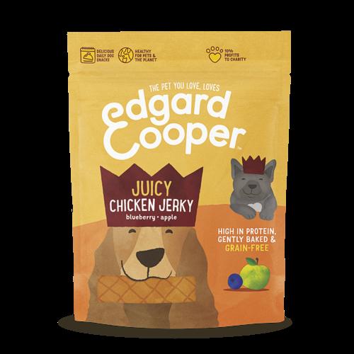 EDGARD EN COOPER Edgard & Cooper jerky kip/blauwe bes/appel 150 gr