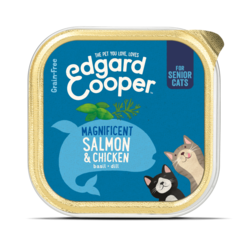 Edgard & Cooper kat kuipje senior kip/zalm 85 gr