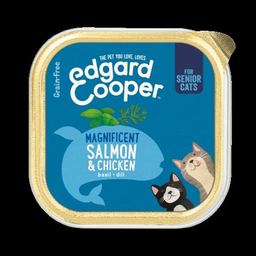 EDGARD EN COOPER Edgard & Cooper cat tub senior chicken/ salmon