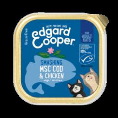 Edgard & Cooper kat kuipje kip/msc kabeljauw 85 gr