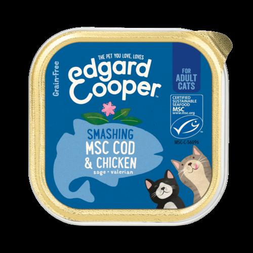EDGARD EN COOPER Edgard & Cooper cat tub chicken/msc cod