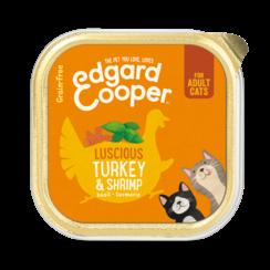 Edgard & Cooper kat kuipje kalk/garnalen 85 gr