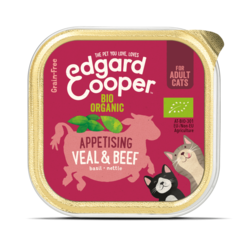 Edgard & Cooper kat kuipje bio rund/kalfsvlees 85 gr