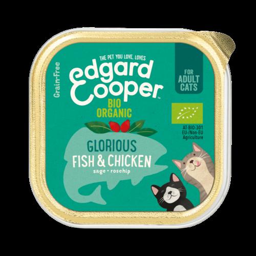 EDGARD EN COOPER Edgard & Cooper kat kuipje bio kip/vis 85 gr