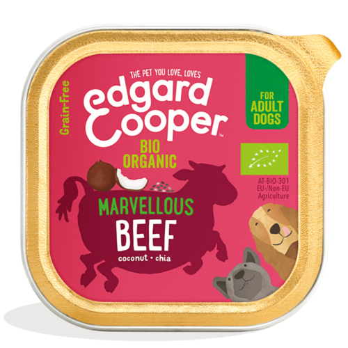 EDGARD EN COOPER Edgard & Cooper hond kuipje rund organische box 100 gr
