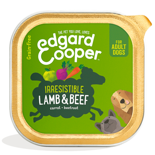 EDGARD EN COOPER Edgard & Cooper hond kuipje lam box 150 gr