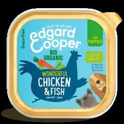Edgard & Cooper hond kuipje kip pup organische box 100 gr