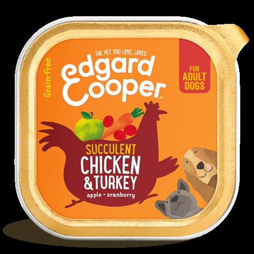 EDGARD EN COOPER Edgard & Cooper hond kuipje kip box 150 gr