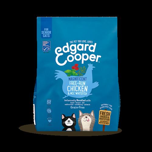 EDGARD EN COOPER Edgard & Cooper cat chunk senior chicken/msc whitefish