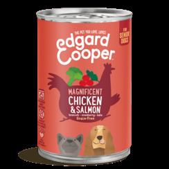 Edgard & Cooper hond blik senior kip/zalm 400 gr
