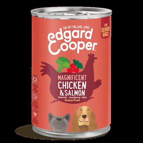 EDGARD EN COOPER Edgard & Cooper hond blik senior kip/zalm 400 gr