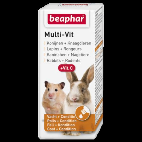 Beaphar Multi-Vit konijnen en knaagdieren 20ml