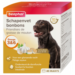 Schafsfettbonbons Knoblauch maxi (Hundesnack) 245g
