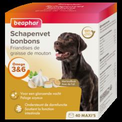 Schapenvet Bonbons Knoflook maxi (hondensnack) 245g