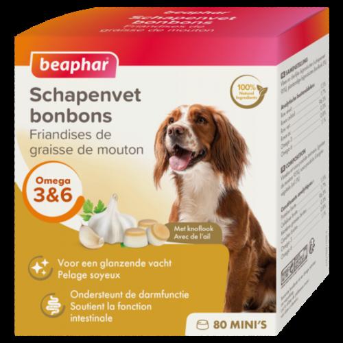 Beaphar Schapenvet Bonbons Knoflook Mini's (hondensnack) 245g