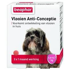 Vlooien Anti Conceptie hond klein (2,6 - 6,7kg) 3st