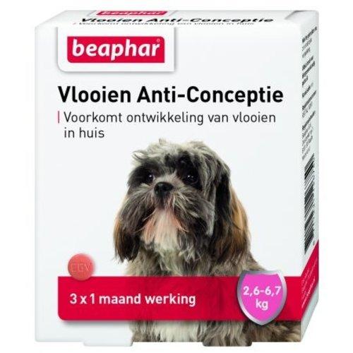Beaphar Vlooien Anti Conceptie hond klein (2,6 - 6,7kg) 3st