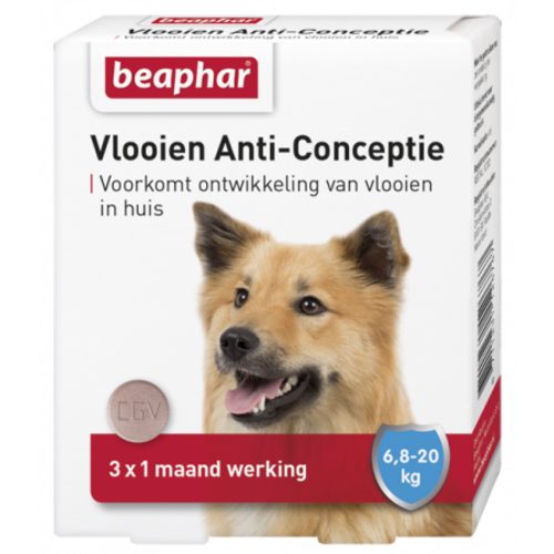 Beaphar Fleas Anti Conception dog medium (6.8 - 20kg) 3st