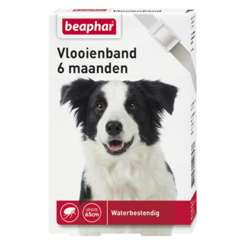 Beaphar Vlooienband 6mnd hond wit