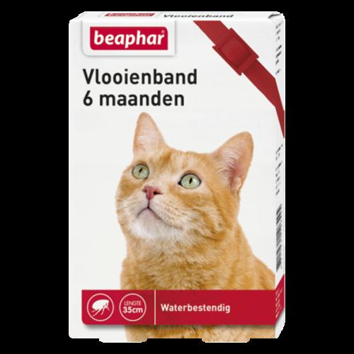 Beaphar Vlooienband 6mnd kat rood