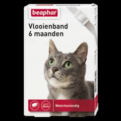 Flohhalsband 6mnd Katze weiß