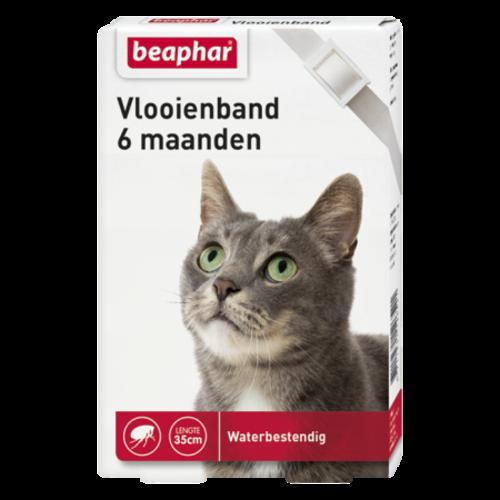 Beaphar Vlooienband 6mnd kat wit
