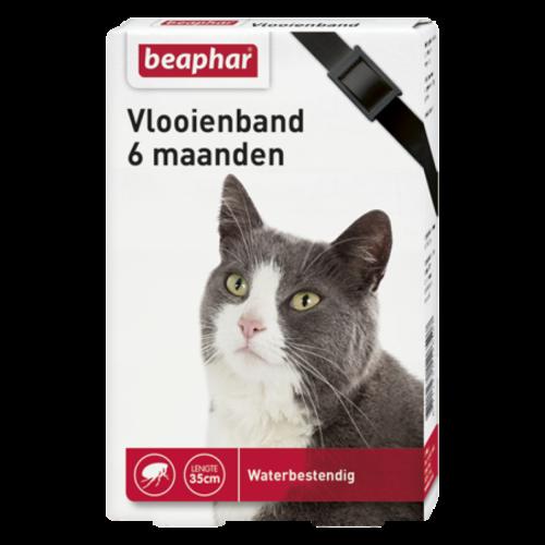 Beaphar Vlooienband 6mnd kat zwart