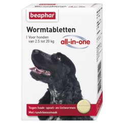 Wormmiddel All-in-One hond (2,5 - 20kg) 2st