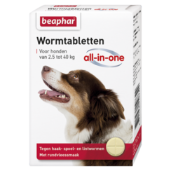 Wormmiddel All-in-One hond (2,5 - 40kg) 4st