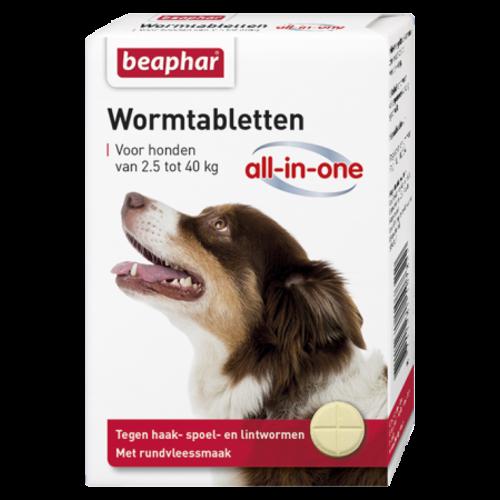 Beaphar Wormmiddel All-in-One hond (2,5 - 40kg) 4st