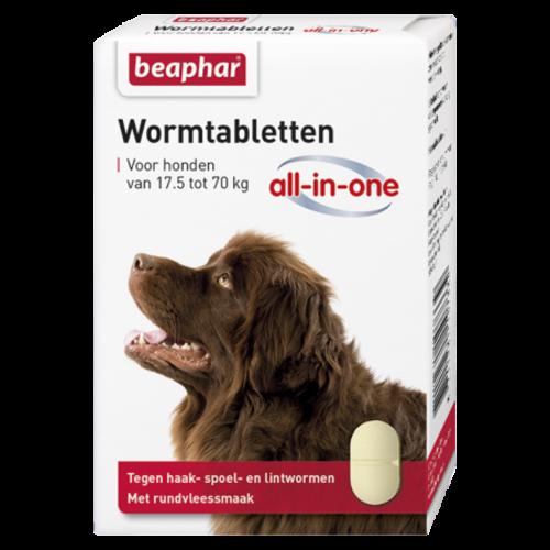 Beaphar Wormmiddel All-in-One hond (17,5 - 70kg) 2st