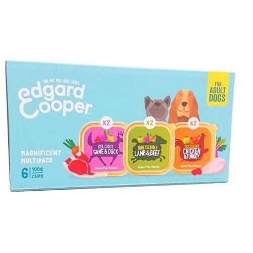 EDGARD EN COOPER Edgard & Cooper Hondenvoer Multipack (6x 100 gram cups)