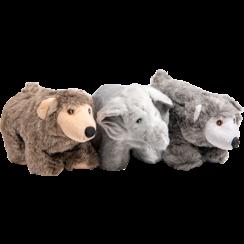 VELVETIES Bär-Grizzly-Elefant Ar.-23cm
