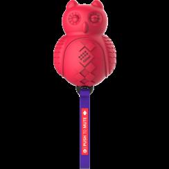 PUSH TO MUTE Owl Red/Purple