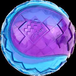 SQUEAKER BALL Rot/Violett-L 7cm