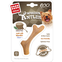 WOODEN ANTLER Chew Toy Natural Wood-XS 10cm