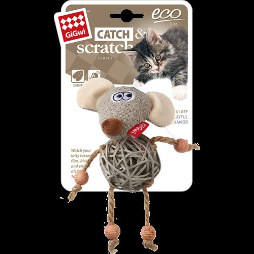 Eco Line  ECO LINE Holz mit Katzenminze Maus